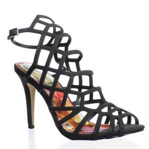 ♥️ MADDEN GIRL DIRECT CAGED HEELED SANDALS ♥️ NEW